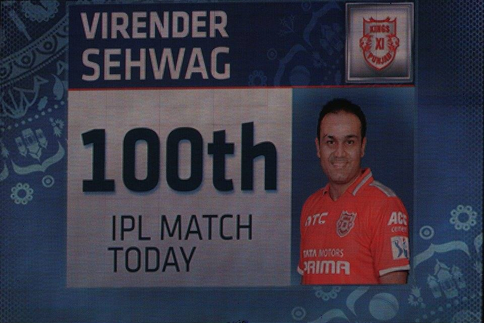#Sehwag Failed in his 100th cricket match. KXIP vs. KKR
