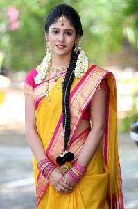 Actress-Chandini-ChowdaryBeautifulSaree-Images|jilgul.com
