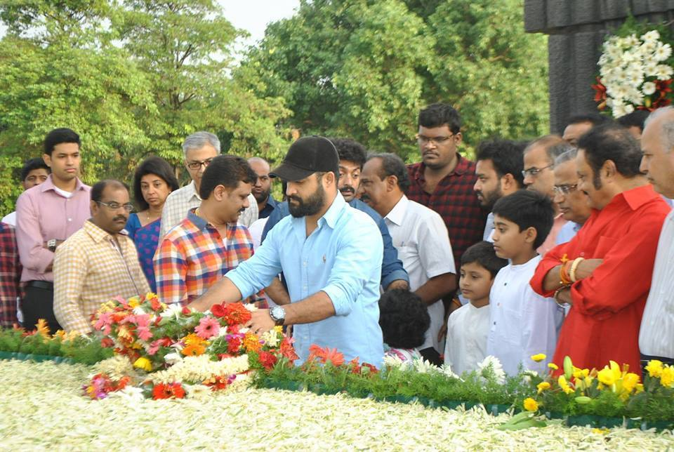 Nandamuri Family Members at NTR Ghat on NTR Birth Anniversary
