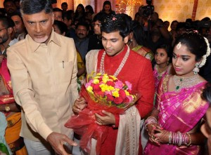 Revanth Reddy's daughter's engagement.