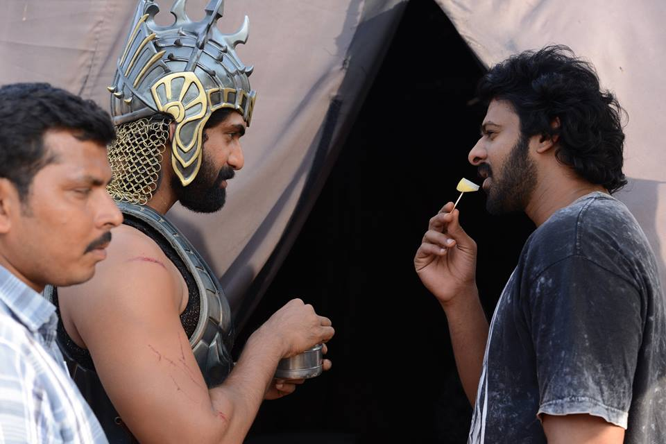 Baahubali latest working stills