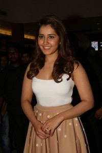 Rashi Khanna at Shivam Movie Promotions