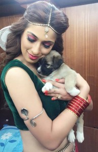 ‎RaaiLaxmi‬ on the Sets of ‪‎SardarGabbarSingh‬|jilgul.com