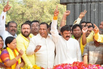 BalaKrishna‬ at ‪‎NTR‬ Ghat on NTR's Death Anniversary|jilgul.com
