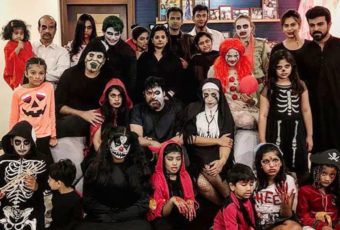 MEGA FAMILY HALLOWEEN THEME PARTY PHOTOS. Mega star chiru, ramcharan, saidharma teja and other family in halloween theme